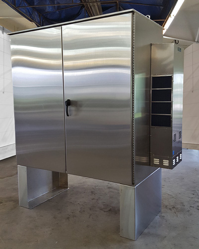 complete stainless steel enclosure; compare to Hoffman