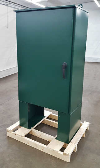 enclosure with powder coat; compare to Hoffman