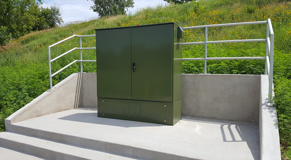 electrical enclosure outdoors